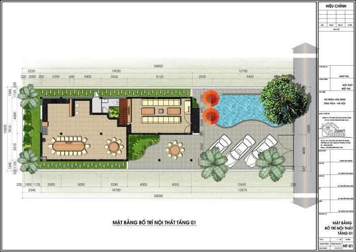 Thiết kế kiến trúc và nội thất nhà anh Phong, Vân Đình, Ứng Hòa, Hà Nội