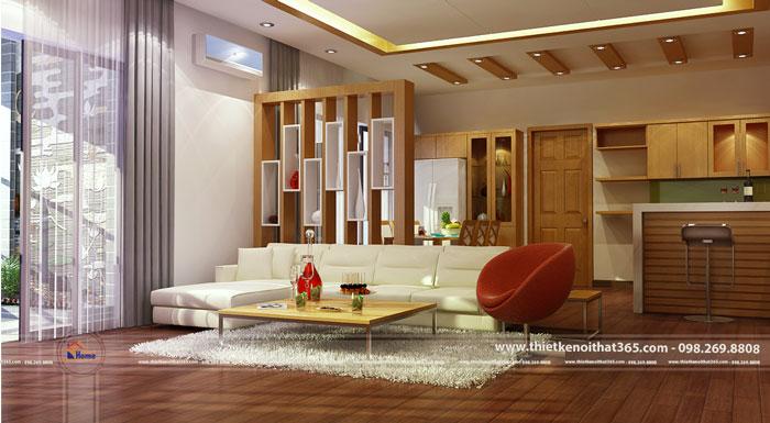 Thiết kế nội thất chung cư Văn Khê – nhà anh Thu