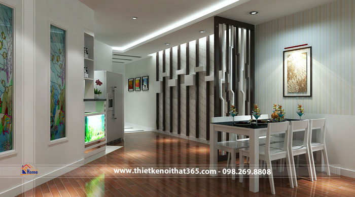 Thiết kế nội thất chung cư nhà anh Thu, Trung Yên 1