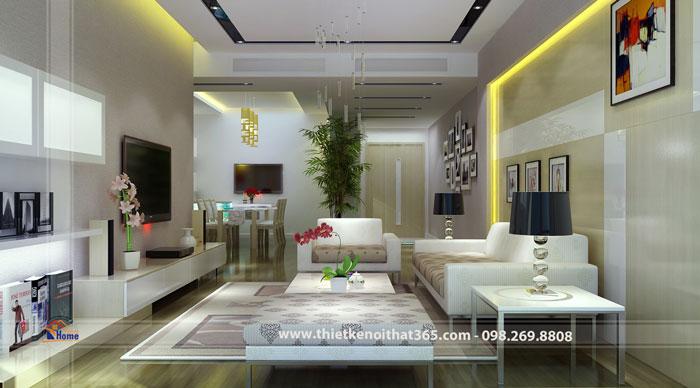 Thiết kế nội thất chung cư nhà anh Phương