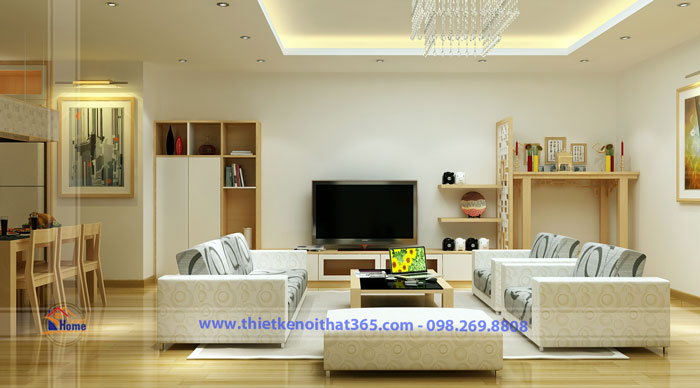 Thiết kế nội thất chung cư nhà chị Lan Anh, Lê Văn Lương