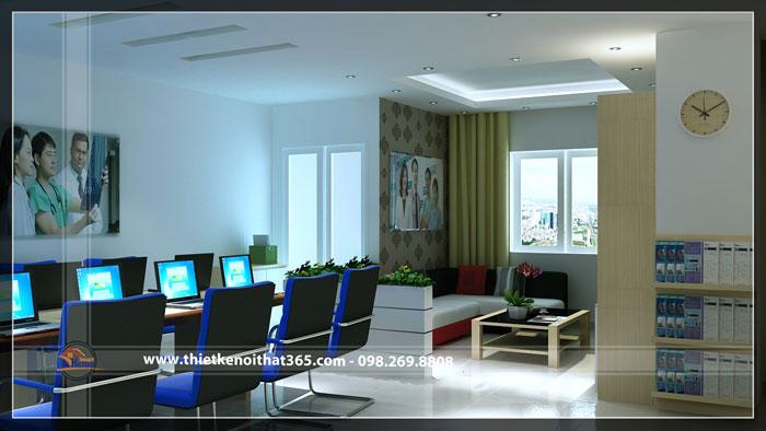 Thiết kế thi công nội thất văn phòng công ty OSSC.