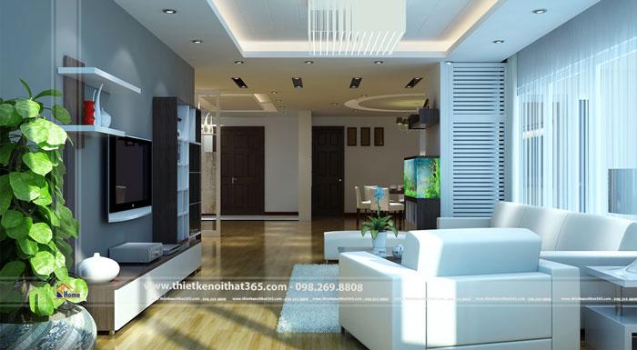 Thiết kế và thi công nội thất chung cư nhà anh Dương – HAPULICO