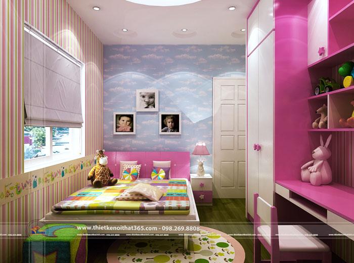 Thiết kế nội thất phòng bé