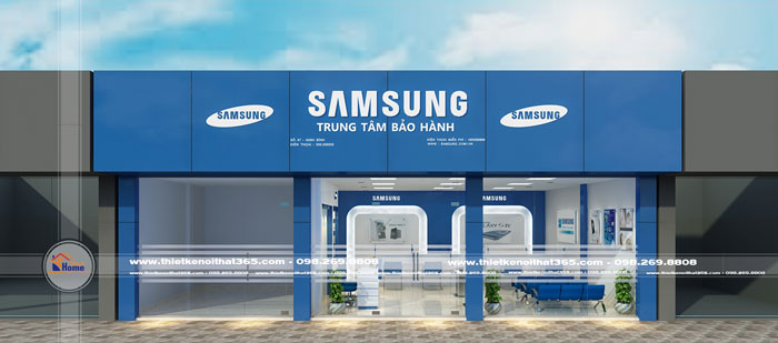 Thiết kế nội thất Trung tâm bảo hành SAM SUNG