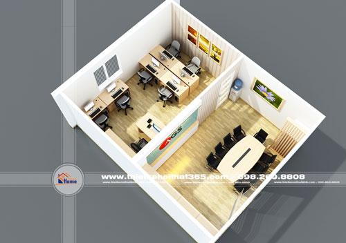 Thiết kế nội thất văn phòng AGS