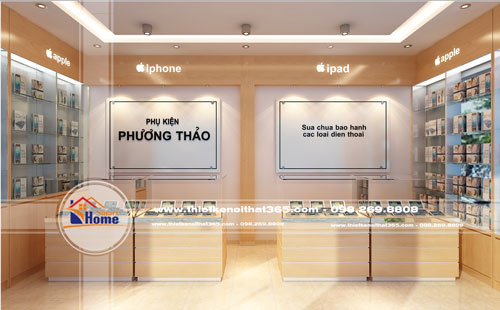 Thiết kế nội thất Showroom điện thoại