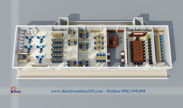 Thiết kế nội thất Văn phòng Việt Thắng.