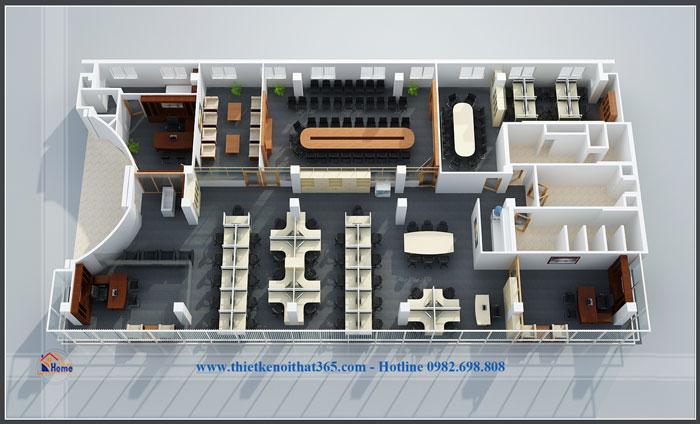 Thiết kế văn phòng đẹp và thi công nội thất văn phòng ECPAY.