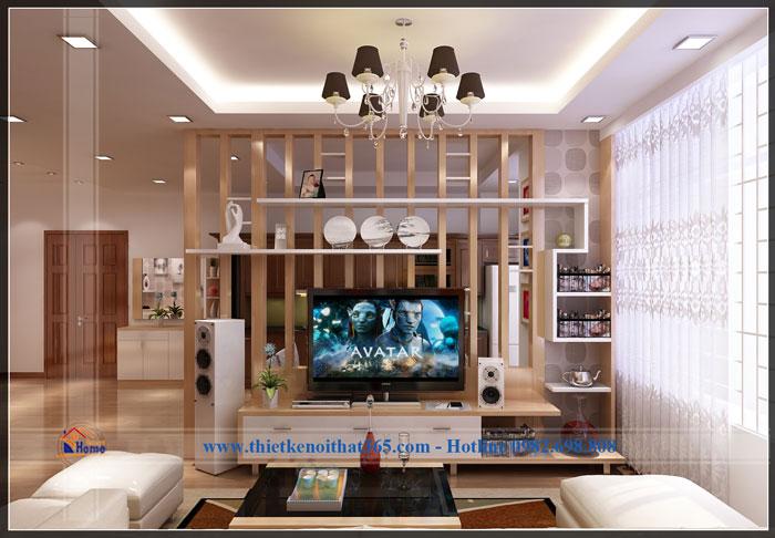 Thiết kế nội thất chưng cư anh Hoan, Licogi 12, Linh Đàm