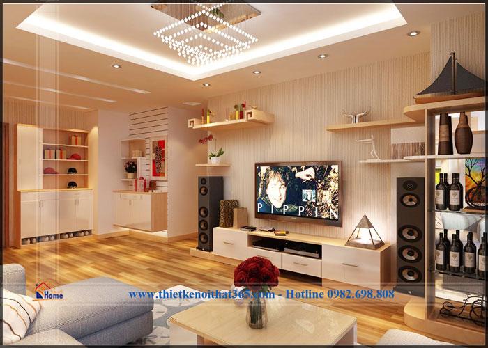 Thiết kế nội thất chung cư nhà anh Thanh – chung cư Cổ Nhuế.