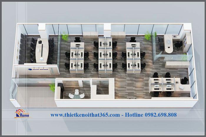 Thiết kế văn phòng đẹp và thi công nội thất Văn phòng Daijin.