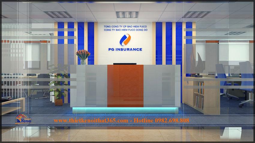 Thiết kế văn phòng công ty Pjico Đông Đô