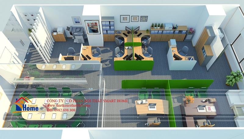 Thiết kế nội thất văn phòng công ty TNHH Hesung A.