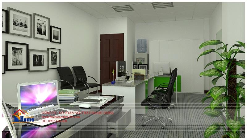 Thiết kế văn phòng đẹp công ty con đường xanh