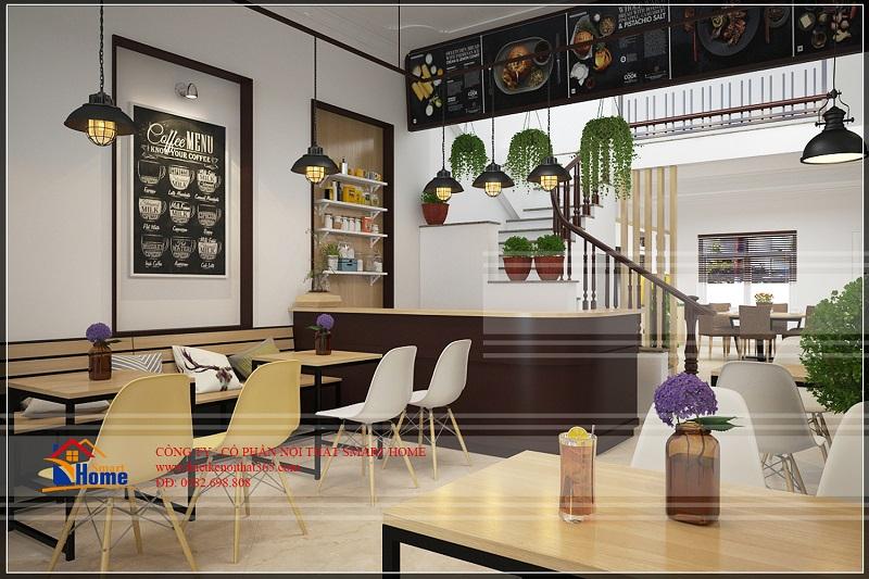 Thiết kế nội thất cửa hàng bán đồ ăn chị Hằng Hòa Bình.