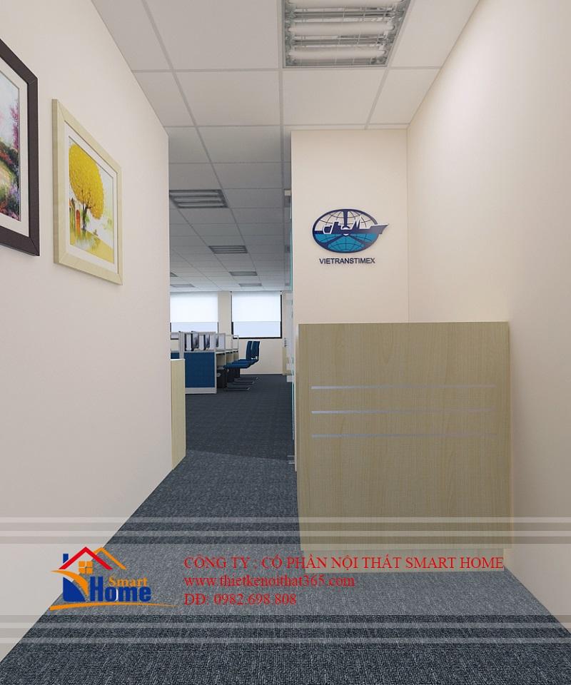 Thiết kế nội thất văn phòng Công ty vận tải đa phương thức 7 (Vietranstimex)