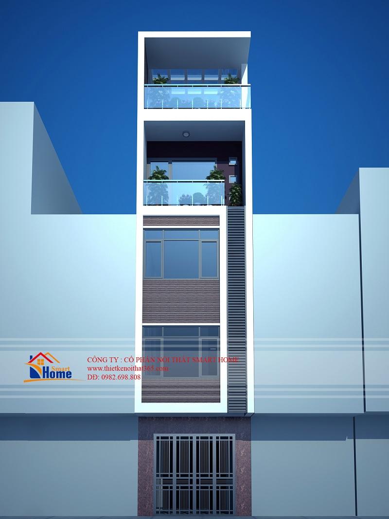Thiết kế nhà phố tại Hòa Bình