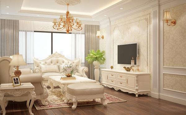 Tư vấn thiết kế căn hộ theo phong cách tân cổ điển chi phí 620 triệu đồng