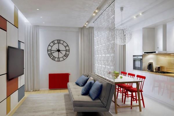 Thiết kế nội thất căn hộ 50 m2 cho gia đình nhỏ