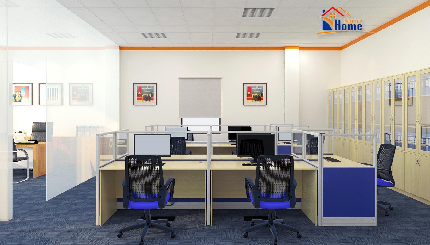 Thiết kế nội thất và thi công nội thất văn phòng công ty Bảo Hiểm Pjico Lào Cai