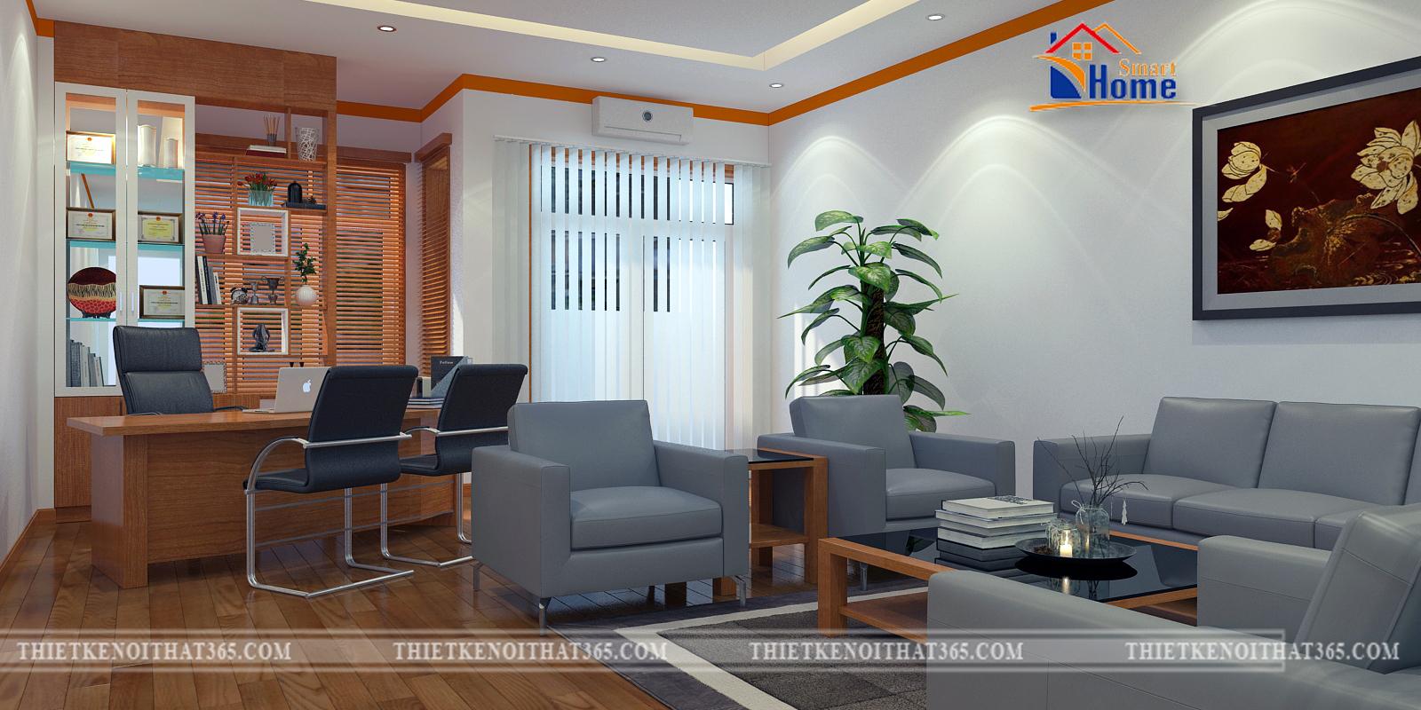 Thiết kế nội thất và thi công nội thất văn phòng công ty Bảo Hiểm Pjico Hà Nam