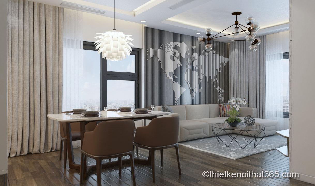 Thiết kế nội thất sang trọng đẳng cấp căn hộ chung cư An Bình city