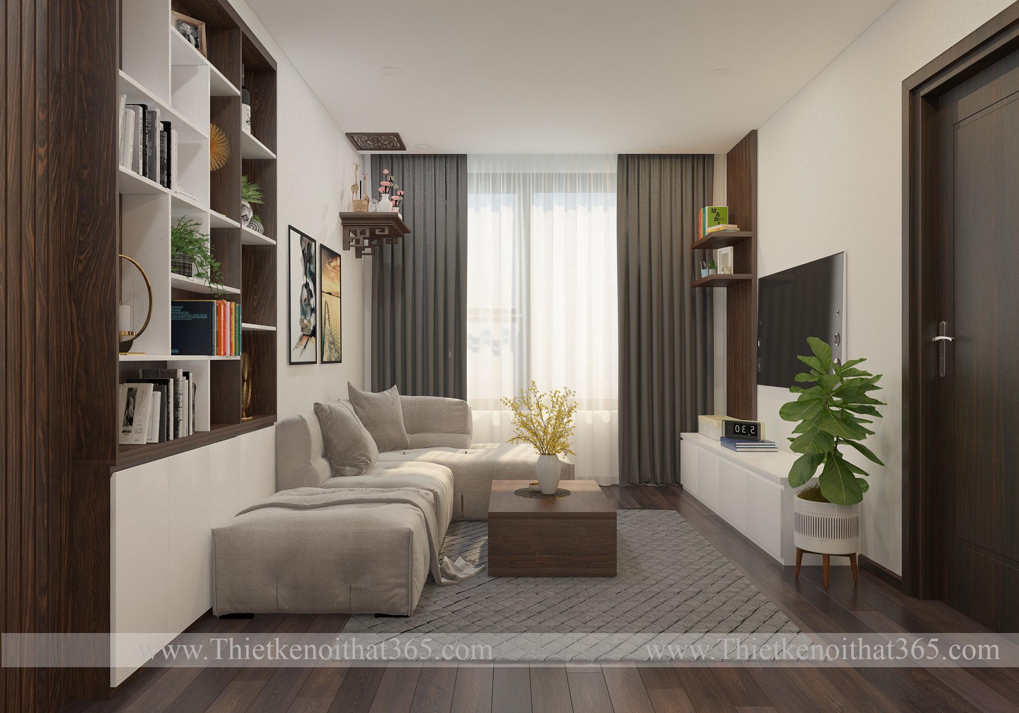 Thiết kế nội thất chung cư 282 Nguyễn Xiển
